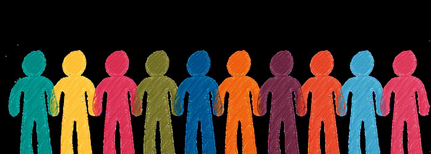 Gemeinschaft_Reihe bunter Figuren_Hand halten (pixabay_crowd-2457730)_1920×1280